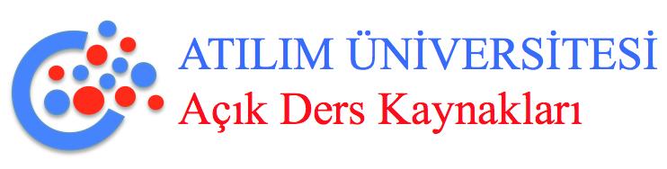 atılım üniversitesi açık ders kaynakları